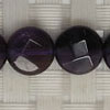 Gemstone dark amethyst beads, Faceted disc, Approx 10x4mm, Hole: Approx 1mm, 39 pieces per strand, Sold by strands