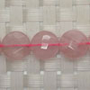 Gemstone rose quartz beads, Faceted disc, Approx 12x12x5mm, Hole: approx 1mm, 33 pieces per strand, Sold by strands