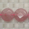 Gemstone rose quartz beads, Faceted disc, Approx 18x18x5mm, Hole: approx 1mm, 22 pieces per strand, Sold by strands