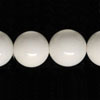 Gemstone Beads, Opaque white agate, Smooth round, Approx 16mm, Hole: Approx 1.2mm, 25 pieces per strand, Sold by strands
