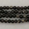 Gemstone imperial jasper beads, Black, Smooth round, Approx 4mm, Hole: Approx 1.2mm, 110 pieces per strand, Sold by strands