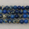 Gemstone imperial jasper beads, Blue, Smooth round, Approx 4mm, Hole: Approx 1.2mm, 110 pieces per strand, Sold by strands