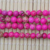 Gemstone imperial jasper beads, Hot pink, Smooth round, Approx 4mm, Hole: Approx 1.2mm, 110 pieces per strand, Sold by strands