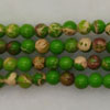 Gemstone imperial jasper beads, Light green, Smooth round, Approx 4mm, Hole: Approx 1.2mm, 110 pieces per strand, Sold by strands