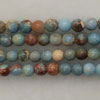 Gemstone imperial jasper beads, Light blue, Smooth round, Approx 4mm, Hole: Approx 1.2mm, 110 pieces per strand, Sold by strands