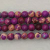 Gemstone imperial jasper beads, Purple, Smooth round, Approx 4mm, Hole: Approx 1.2mm, 110 pieces per strand, Sold by strands