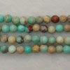 Gemstone imperial jasper beads, Turquoise, Smooth round, Approx 4mm, Hole: Approx 1.2mm, 110 pieces per strand, Sold by strands