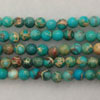 Gemstone imperial jasper beads, Dark turquoise, Smooth round, Approx 4mm, Hole: Approx 1.2mm, 110 pieces per strand, Sold by strands