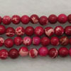 Gemstone imperial jasper beads, Rose red, Smooth round, Approx 4mm, Hole: Approx 1.2mm, 110 pieces per strand, Sold by strands