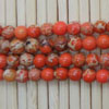 Gemstone imperial jasper beads, Orange, Smooth round, Approx 4mm, Hole: Approx 1.2mm, 110 pieces per strand, Sold by strands