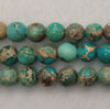 Gemstone imperial jasper beads, Dark turquoise, Smooth round, Approx 6mm, Hole: Approx 1.2mm, 62 pieces per strand, Sold by strands