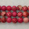 Gemstone imperial jasper beads, Rose red, Smooth round, Approx 6mm, Hole: Approx 1.2mm, 62 pieces per strand, Sold by strands