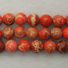 Gemstone imperial jasper beads, Orange, Smooth round, Approx 6mm, Hole: Approx 1.2mm, 62 pieces per strand, Sold by strands