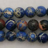 Gemstone imperial jasper beads, Blue, Smooth round, Approx 8mm, Hole: Approx 1.2mm, 51 pieces per strand, Sold by strands