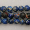 Gemstone imperial jasper beads, Blue, Smooth round, Approx 6mm, Hole: Approx 1.2mm, 62 pieces per strand, Sold by strands