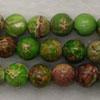 Gemstone imperial jasper beads, Light green, Smooth round, Approx 8mm, Hole: Approx 1.2mm, 51 pieces per strand, Sold by strands