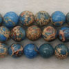 Gemstone imperial jasper beads, Light blue, Smooth round, Approx 8mm, Hole: Approx 1.2mm, 51 pieces per strand, Sold by strands