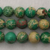 Gemstone imperial jasper beads, Green, Smooth round, Approx 8mm, Hole: Approx 1.2mm, 51 pieces per strand, Sold by strands