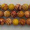 Gemstone imperial jasper beads, Yellow, Smooth round, Approx 8mm, Hole: Approx 1.2mm, 51 pieces per strand, Sold by strands