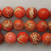 Gemstone imperial jasper beads, Orange, Smooth round, Approx 8mm, Hole: Approx 1.2mm, 51 pieces per strand, Sold by strands