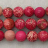Gemstone imperial jasper beads, Rose red, Smooth round, Approx 8mm, Hole: Approx 1.2mm, 51 pieces per strand, Sold by strands