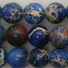 Gemstone imperial jasper beads, Blue, Smooth round, Approx 10mm, Hole: Approx 1.2mm, 38 pieces per strand, Sold by strands