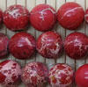 Gemstone imperial jasper beads, Red, Smooth round, Approx 10mm, Hole: Approx 1.2mm, 38 pieces per strand, Sold by strands