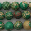 Gemstone imperial jasper beads, Green, Smooth round, Approx 10mm, Hole: Approx 1.2mm, 38 pieces per strand, Sold by strands