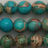 Gemstone imperial jasper beads, Dark turquoise, Smooth round, Approx 10mm, Hole: Approx 1.2mm, 38 pieces per strand, Sold by strands