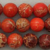 Gemstone imperial jasper beads, Orange, Smooth round, Approx 10mm, Hole: Approx 1.2mm, 38 pieces per strand, Sold by strands