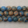 Gemstone imperial jasper beads, Light blue, Smooth round, Approx 6mm, Hole: Approx 1.2mm, 62 pieces per strand, Sold by strands