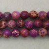 Gemstone imperial jasper beads, Purple, Smooth round, Approx 6mm, Hole: Approx 1.2mm, 62 pieces per strand, Sold by strands