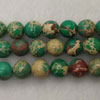 Gemstone imperial jasper beads, Green, Smooth round, Approx 6mm, Hole: Approx 1.2mm, 62 pieces per strand, Sold by strands