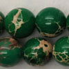 Gemstone imperial jasper beads, Green, Smooth round, Approx 12mm, Hole: Approx 1.2mm, 32 pieces per strand, Sold by strands