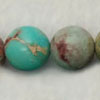 Gemstone imperial jasper beads, Turquoise, Smooth round, Approx 12mm, Hole: Approx 1.2mm, 32 pieces per strand, Sold by strands