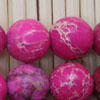 Gemstone imperial jasper beads, Hot pink, Smooth round, Approx 12mm, Hole: Approx 1.2mm, 32 pieces per strand, Sold by strands