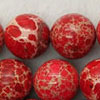 Gemstone imperial jasper beads, Red, Smooth round, Approx 12mm, Hole: Approx 1.2mm, 32 pieces per strand, Sold by strands