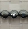 Gemstone terahertz beads, Faceted round, Approx 6mm, Hole: Approx 1mm, 66 pieces per strand, Sold by strands