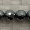 Gemstone terahertz beads, Faceted round, Approx 8mm, Hole: Approx 1mm, 51 pieces per strand, Sold by strands