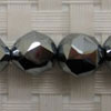 Gemstone terahertz beads, Faceted round, Approx 10mm, Hole: Approx 1mm, 40 pieces per strand, Sold by strands