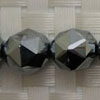 Gemstone terahertz beads, Faceted round, Approx 12mm, Hole: Approx 1mm, 34 pieces per strand, Sold by strands