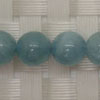 Gemstone aquamarine beads, Smooth round, Approx 8mm, Hole: Approx 1mm, 49 pieces per strand, Sold by strands