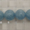Gemstone aquamarine beads, Smooth round, Approx 10mm, Hole: Approx 1mm, 39 pieces per strand, Sold by strands