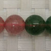 Gemstone red and green strawberry quartz beads, Smooth round, Approx 10mm, Hole: Approx 1mm, 40 pieces per strand, Sold by strands
