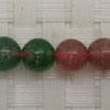 Gemstone red and green strawberry quartz beads, Smooth round, Approx 8mm, Hole: Approx 1mm, 50 pieces per strand, Sold by strands