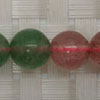 Gemstone red and green strawberry quartz beads, Smooth round, Approx 10mm, Grade B, Hole: Approx 1mm, 40 pieces per strand, Sold by strands