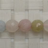 Gemstone morganite beads, Faceted round, Approx 6mm, Hole: Approx 1mm, 65 pieces per strand, Sold by strands