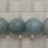 Gemstone aquamarine beads, Faceted round, Approx 10mm, Hole: Approx 1mm, 40 pieces per strand, Sold by strands