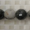 Gemstone rutilated quartz beads, Faceted round, Approx 12mm, Hole: Approx 1mm, 33 pieces per strand, Sold by strands