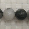 Gemstone rutilated quartz beads, Faceted round, Approx 16mm, Hole: Approx 1mm, 25 pieces per strand, Sold by strands